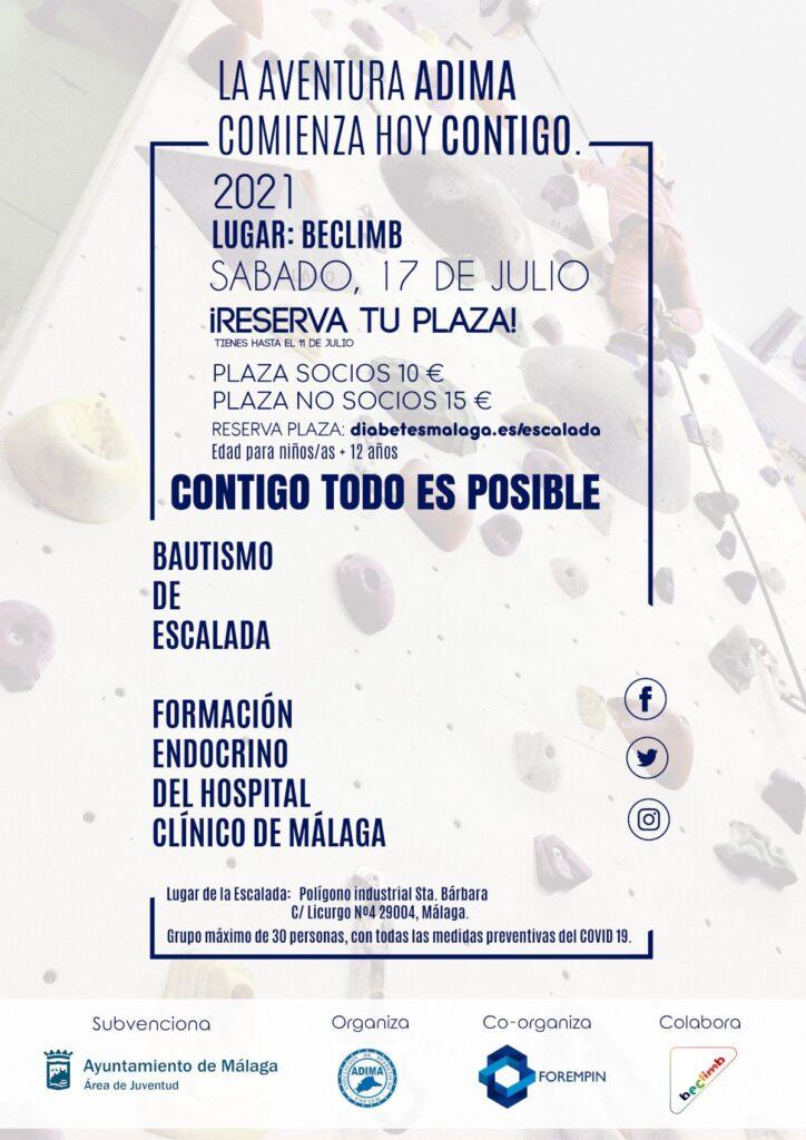 Ven de escalada con Adima (Asociación de Diabetes Málaga) - Actividad Rocódromo